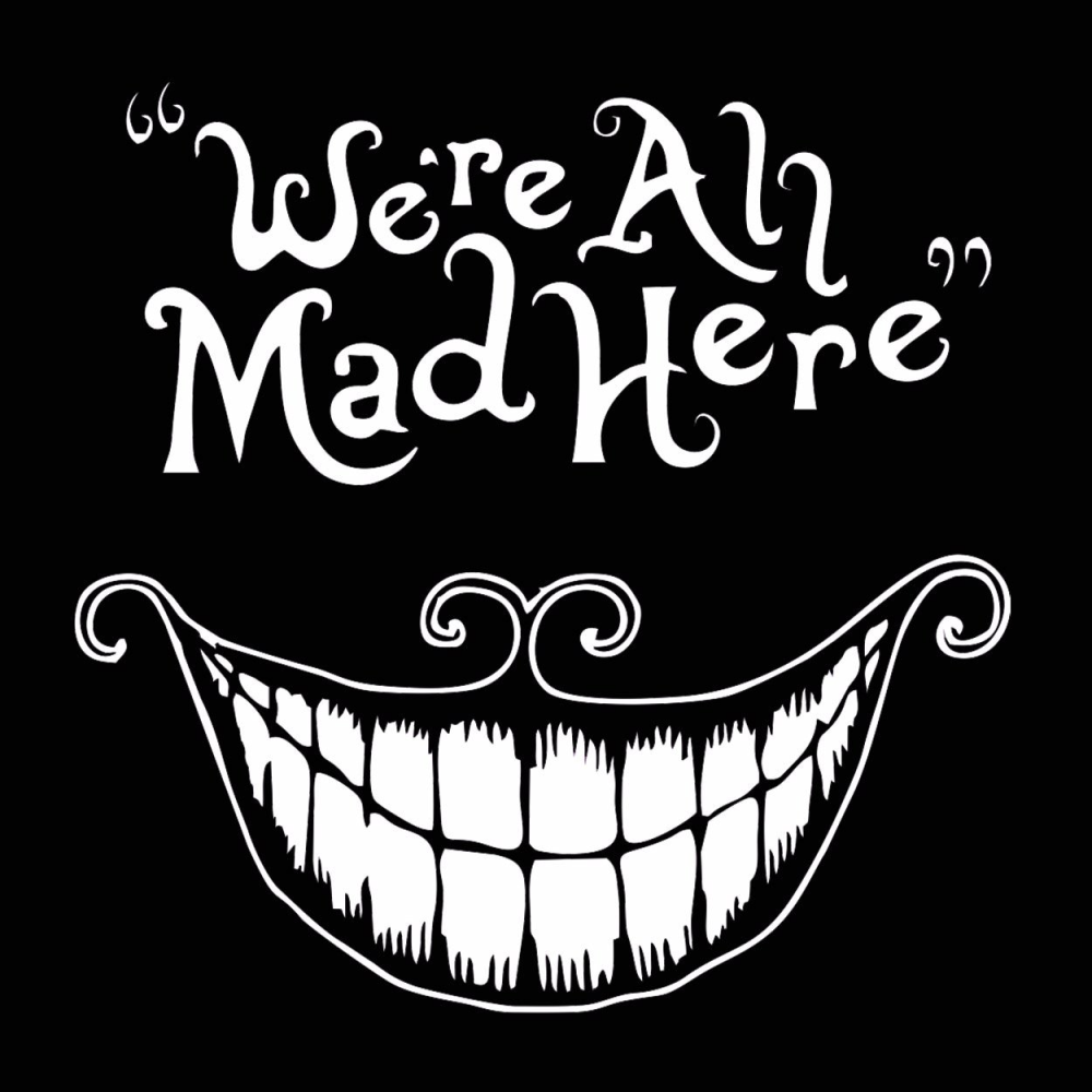 Were all mad here t shirt rising star leggings