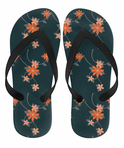 Orange Flower Flip-Flops - Rising Star Leggings