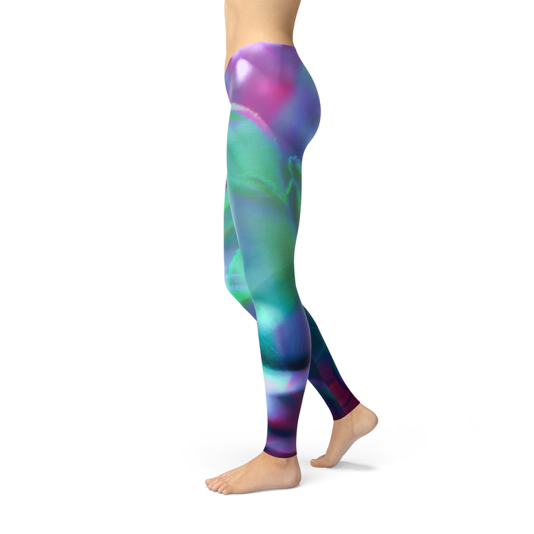 Be Comfy Abstract Flowers Leggings - Rising Star Leggings