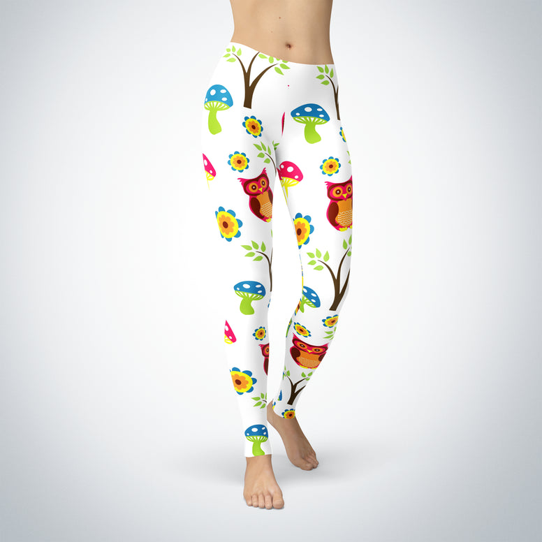 Be Comfy Cute Owl Leggings - Rising Star Leggings