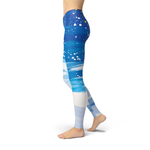 Jean Athletic Snowy Trees - Rising Star Leggings