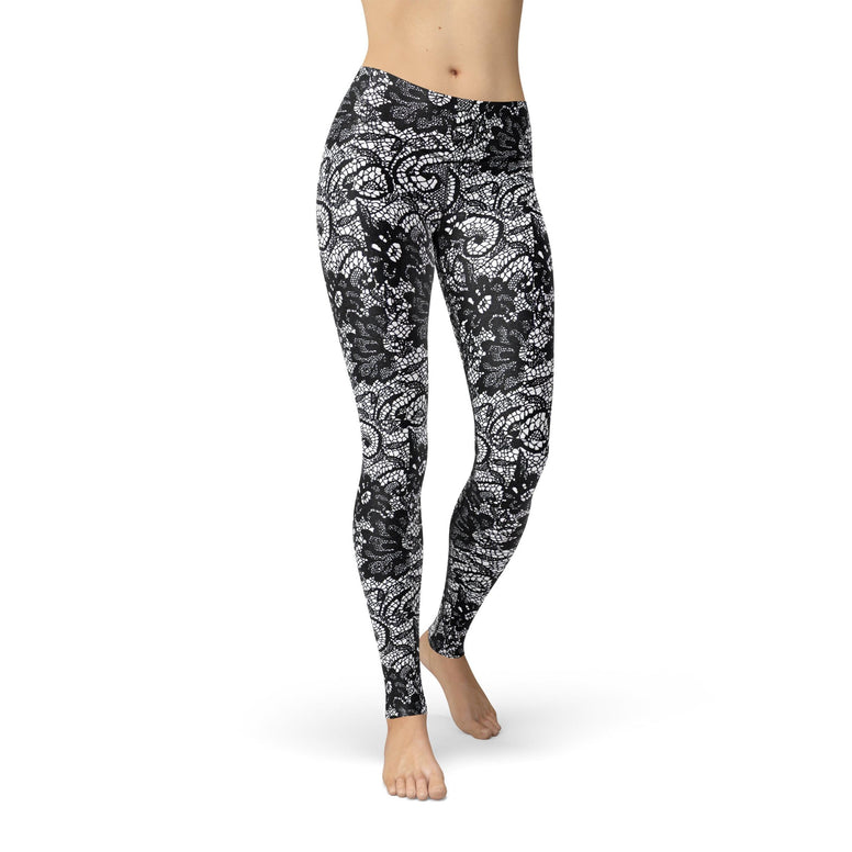 Kate Black Lace - Rising Star Leggings