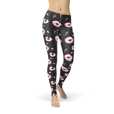 Be Active Romantic Flowers Leggings - Rising Star Leggings