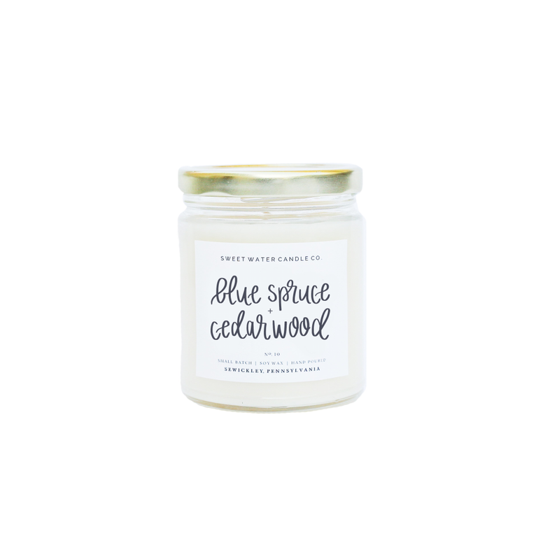Blue Spruce + Cedarwood Soy Candle - Rising Star Leggings