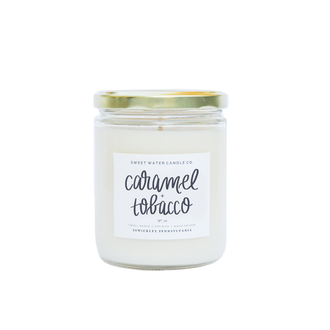 Caramel + Tobacco Soy Candle - Rising Star Leggings