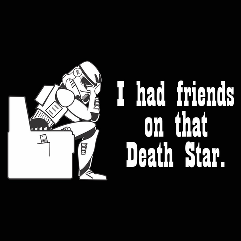 Friends On That Death Star T-Shirt - Rising Star Leggings