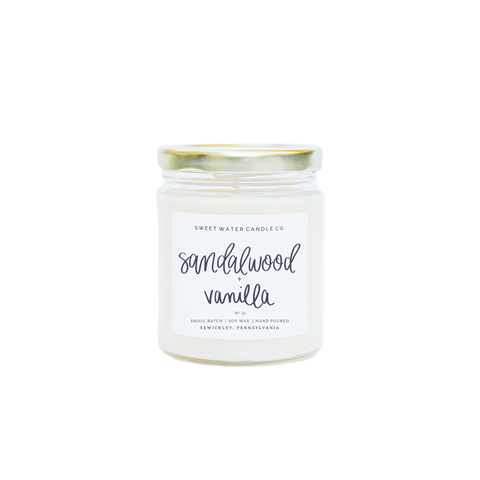 Sandalwood Vanilla Soy Candle - Rising Star Leggings