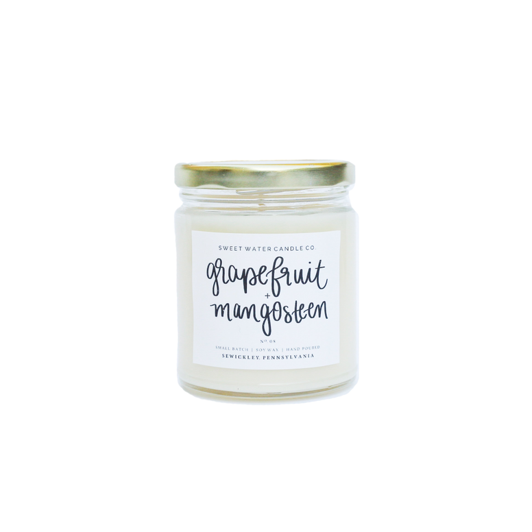 Grapefruit and Mangosteen Soy Candle - Rising Star Leggings