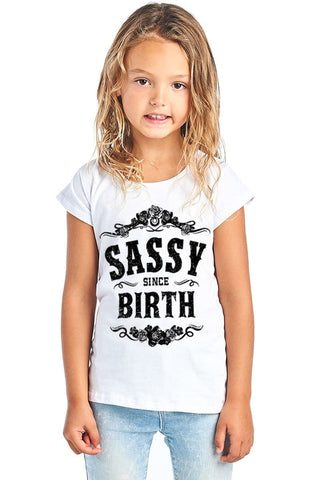 Sassy Since Birth W Floral Design Round Neck - Rising Star Leggings