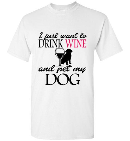 Drink Wine and Pet My Dog T-Shirt - Rising Star Leggings