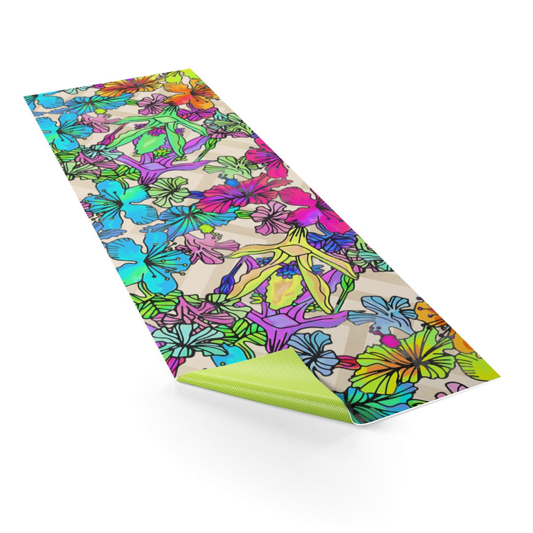 Bright Flowers Yoga mat - Rising Star Leggings