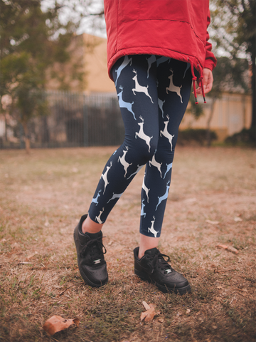 Be Active Dancing Deer Leggings - Rising Star Leggings