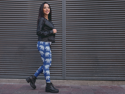 Be Comfy Marching Elephants Leggings - Rising Star Leggings