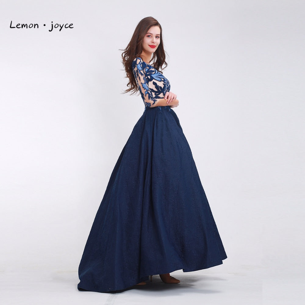 Elegant Prom Dress Vintage with Half sleeves O-neck. Floor-Length ...