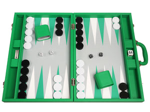 19-inch Premium Backgammon Set - Groen