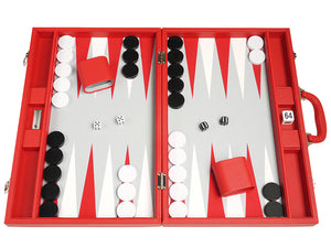Ensemble de Backgammon Premium 48 x 64 cm - Rouge
