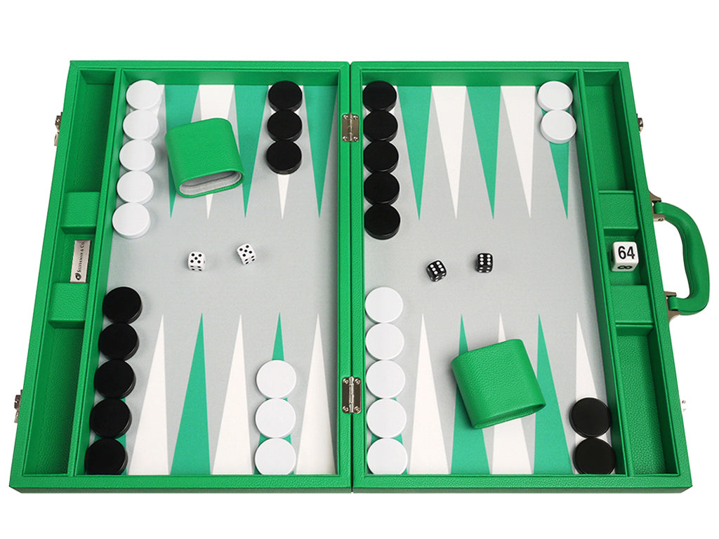 19-inch Premium Backgammon Set - Green - EUR - American-Wholesaler Inc.