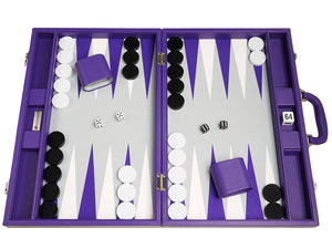 19-inch Premium Backgammon Set - Paars
