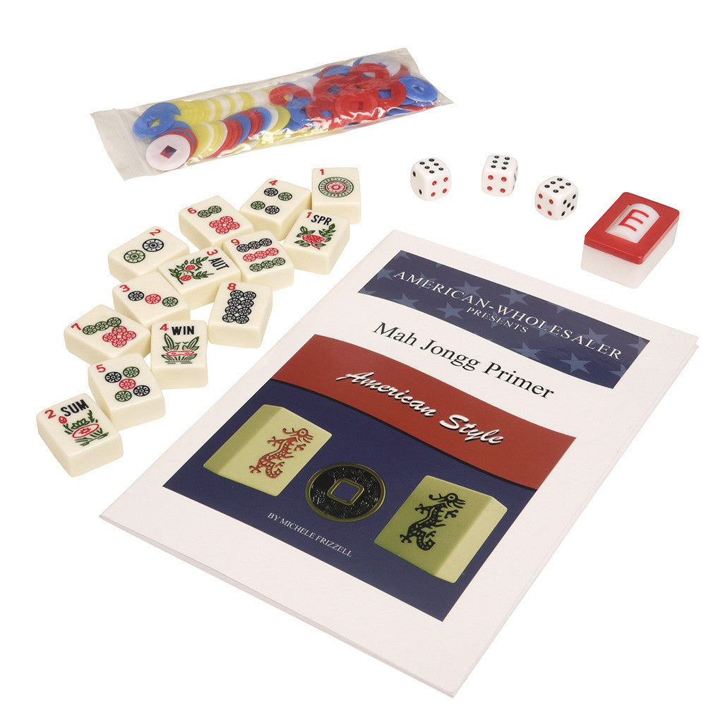 Soft-Sided American Mah Jongg Set by Linda Li® with Ivory Tiles and Modern Pushers - Brown Soft Bag - GBP - American-Wholesaler Inc.