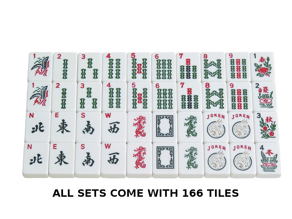 Soft-Sided American Mah Jongg Set by Linda Li® with White Tiles and Modern Pushers - Black Soft Bag - American-Wholesaler Inc.