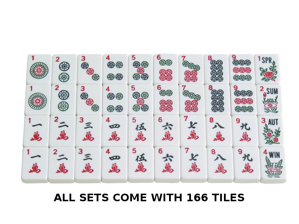 Mahjong Tiles - 166 White Tiles