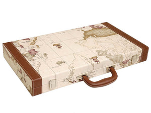 18-inch Map Backgammon Set - White Board - American-Wholesaler Inc.