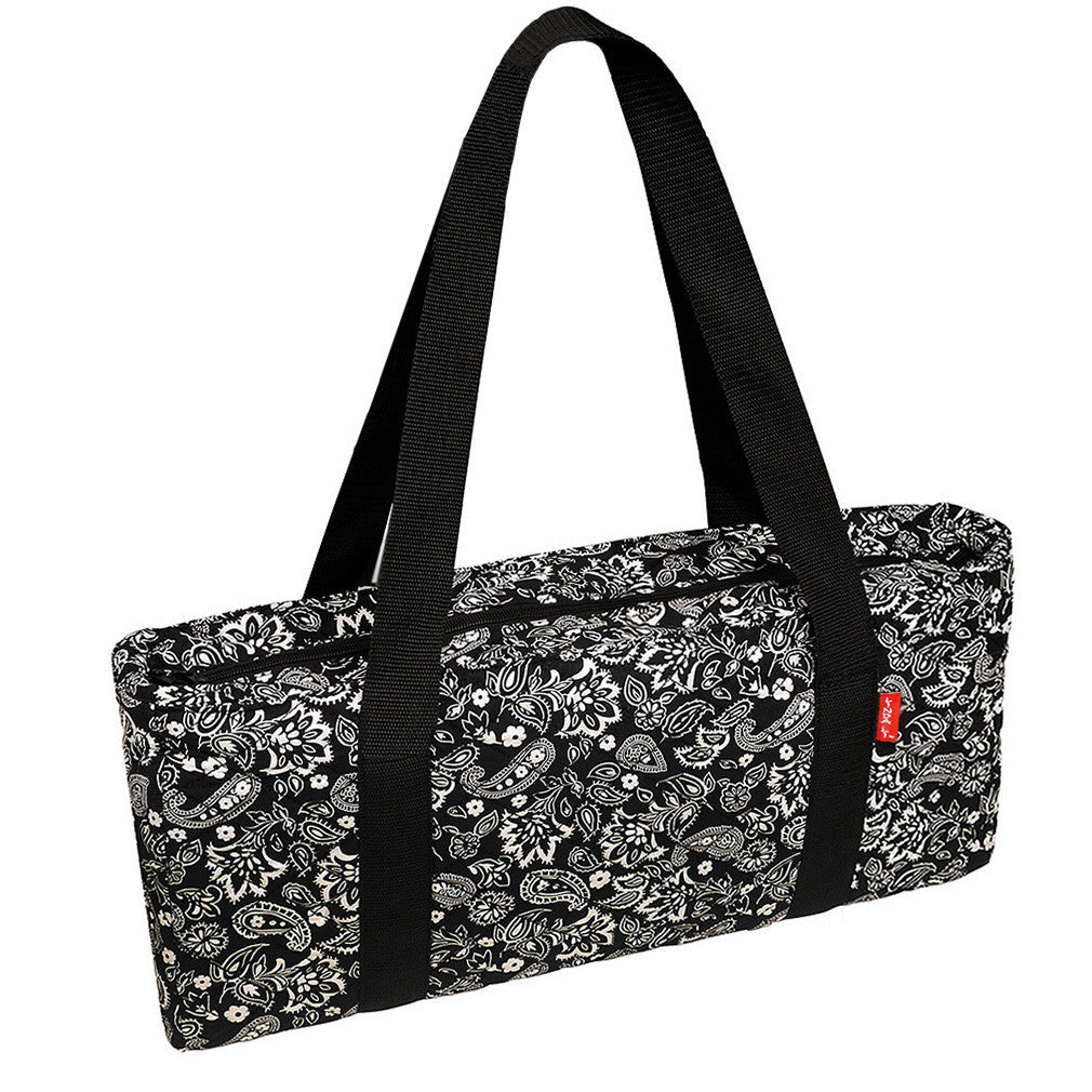 Soft-Sided American Mah Jongg Set by Linda Li® with Ivory Tiles and Modern Pushers - Black Paisley Soft Bag - GBP - American-Wholesaler Inc.