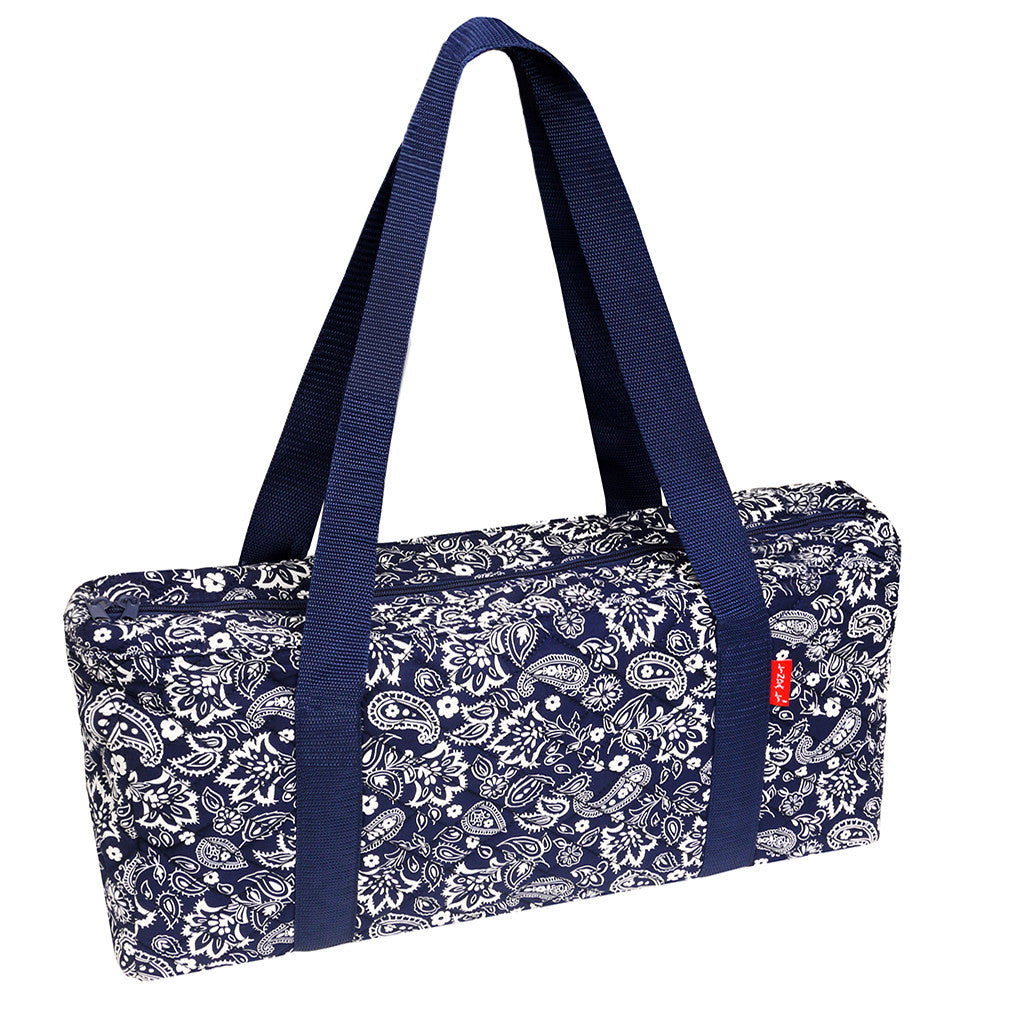 Soft-Sided American Mah Jongg Set by Linda Li® with White Tiles and Modern Pushers - Blue Paisley Soft Bag - EUR - American-Wholesaler Inc.