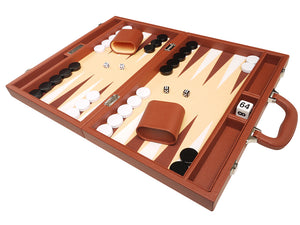 Set de Backgammon Premium de 40 x 53 cm - Marrón