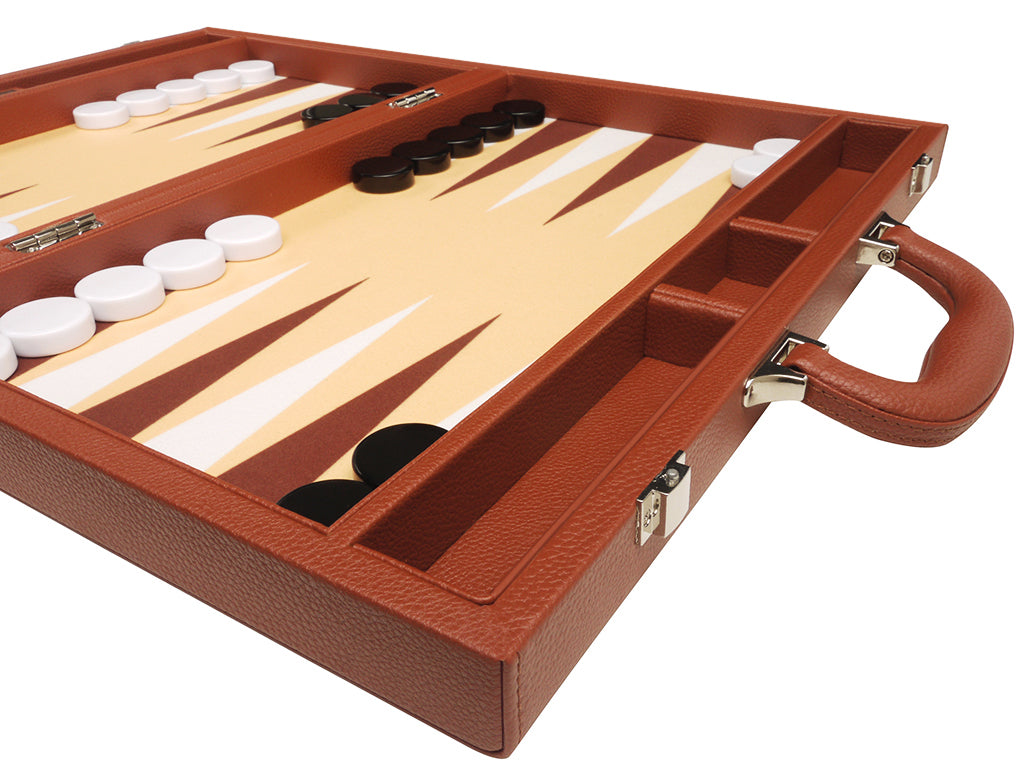 16-inch Premium Backgammon Set - Desert Brown - EUR - American-Wholesaler Inc.