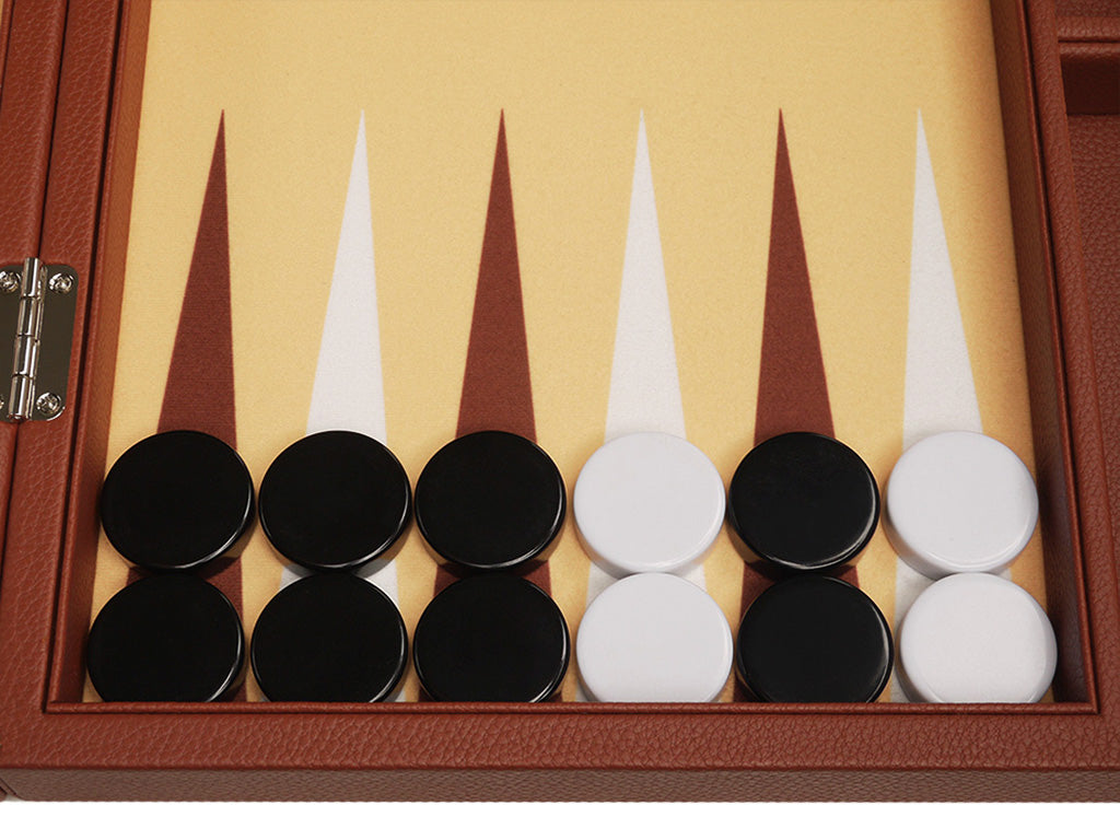 16-inch Premium Backgammon Set - Desert Brown - American-Wholesaler Inc.