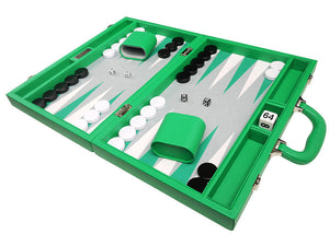 40 x 53 cm Premium Backgammon Set - Groen