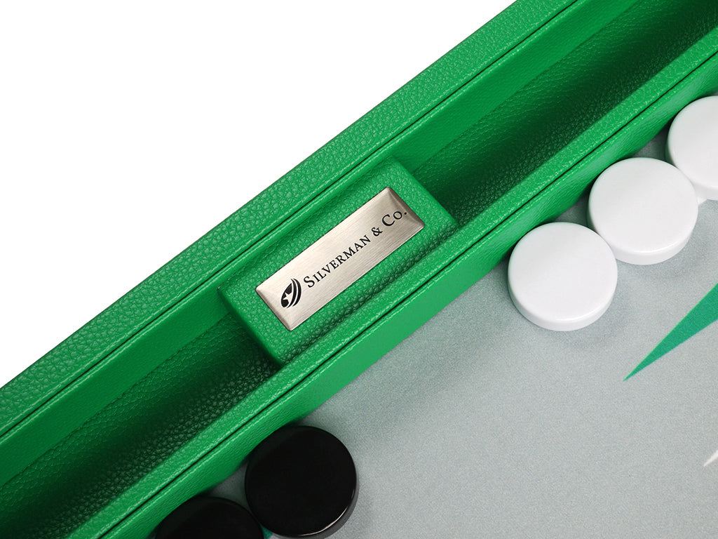 16-inch Premium Backgammon Set - Green - Silverman & Co logo