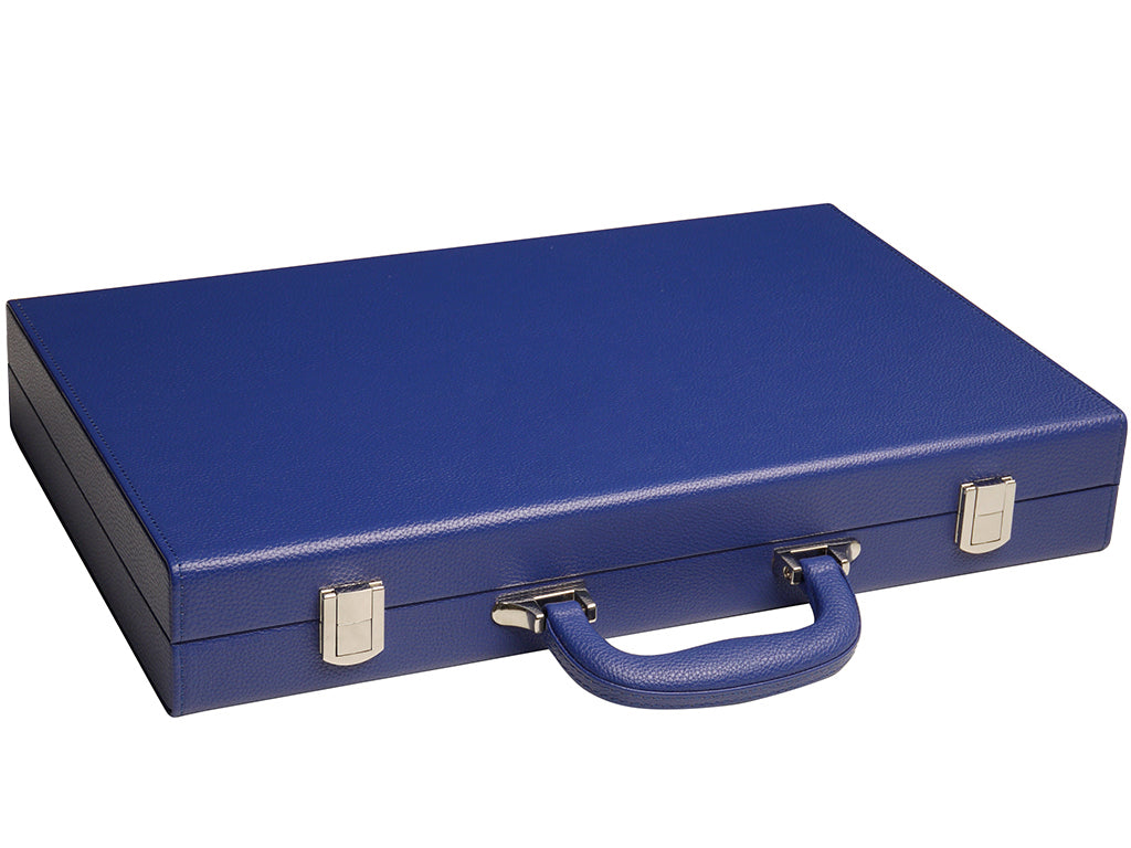16-inch Premium Backgammon Set - Indigo Blue - American-Wholesaler Inc.