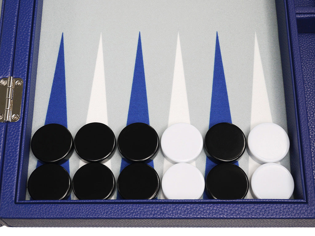 16-inch Premium Backgammon Set - Indigo Blue - GBP - American-Wholesaler Inc.