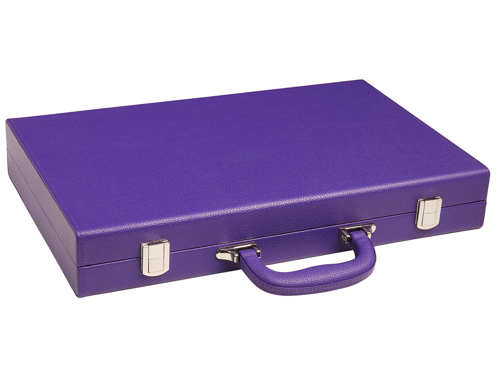 16-inch Premium Backgammon Set - Purple - GBP - American-Wholesaler Inc.