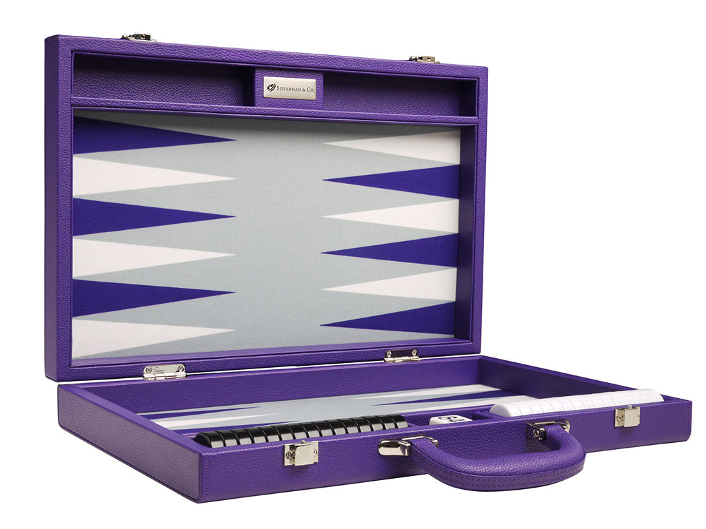 16-inch Premium Backgammon Set - Purple - American-Wholesaler Inc.