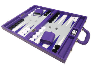40 x 53 cm Premium Backgammon Set - Paars