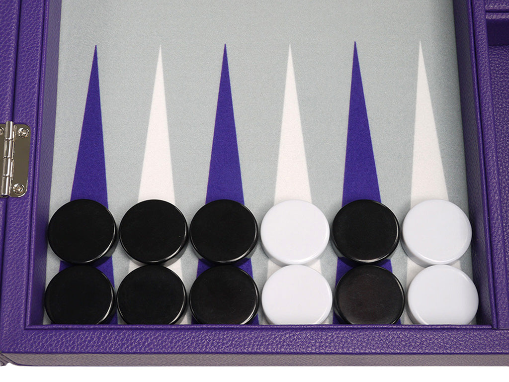 16-inch Premium Backgammon Set - Purple - EUR - American-Wholesaler Inc.