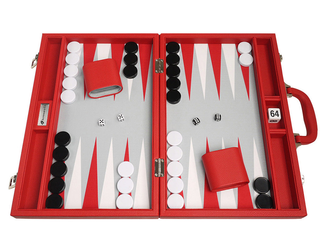16-inch Premium Backgammon Set - Red - EUR - American-Wholesaler Inc.