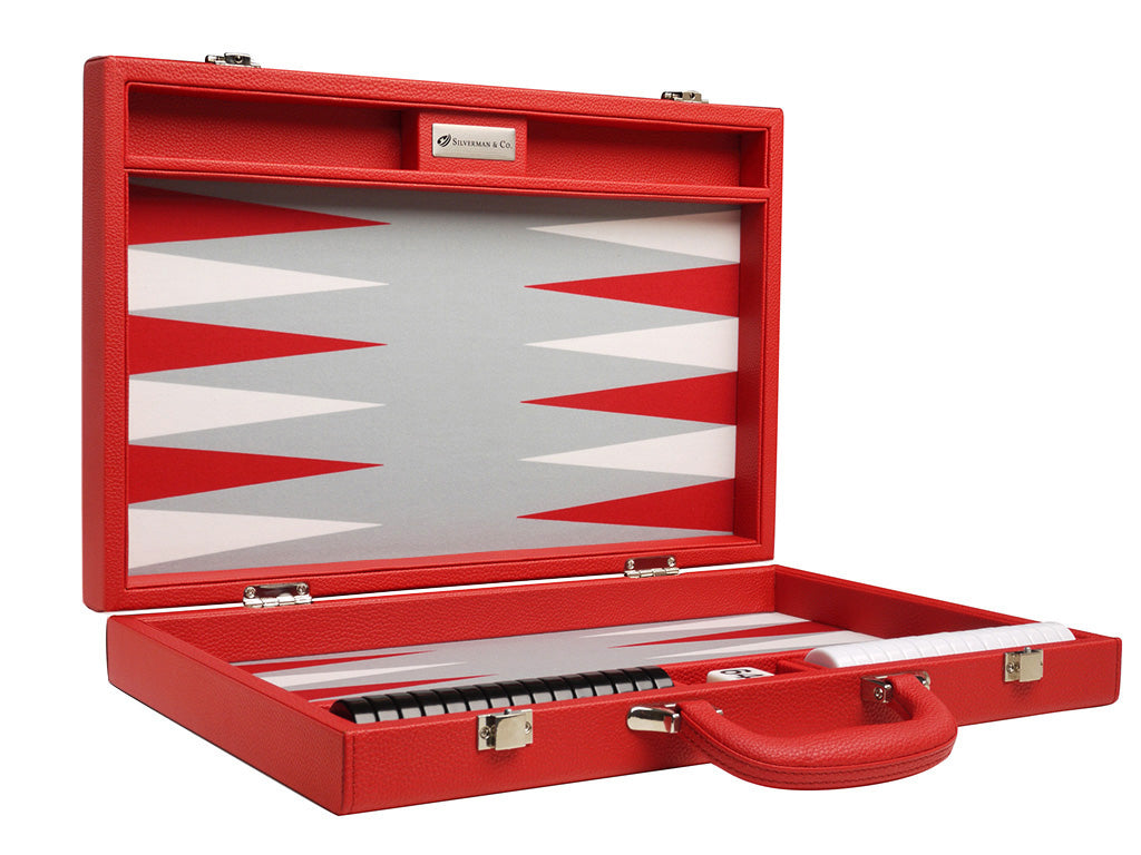 16-inch Premium Backgammon Set - Red - American-Wholesaler Inc.