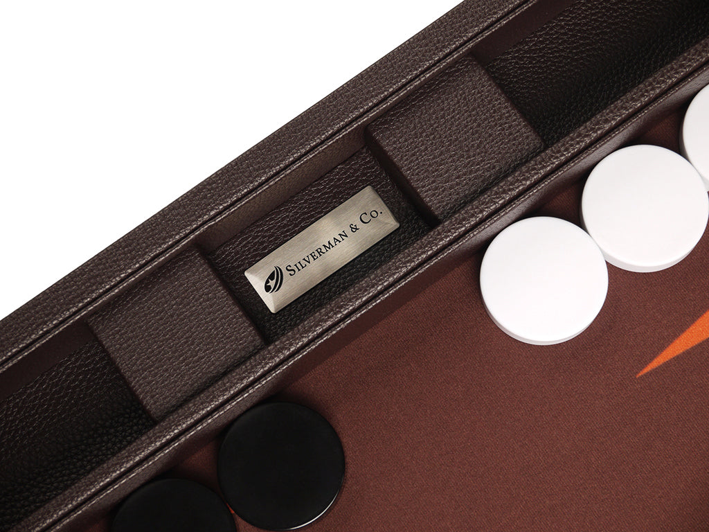 19-inch Premium Backgammon Set - Dark Brown - EUR - American-Wholesaler Inc.