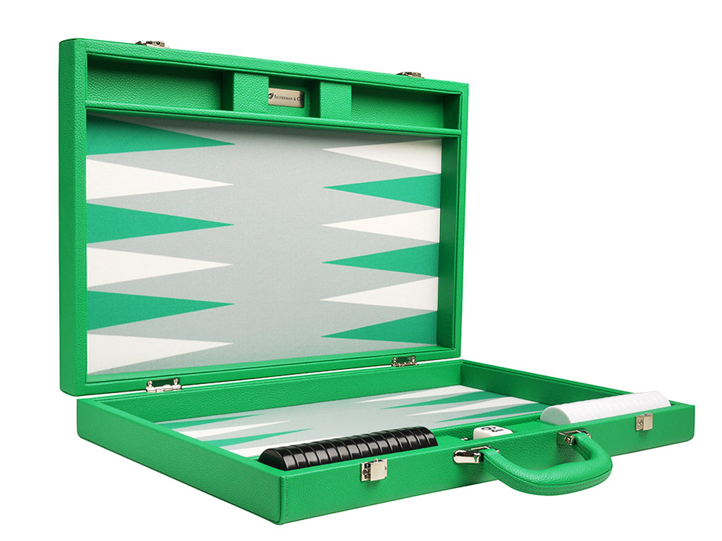 19-inch Premium Backgammon Set - Green - American-Wholesaler Inc.