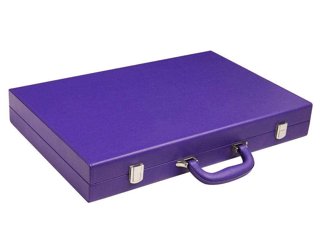 19-inch Premium Backgammon Set - Purple - GBP - American-Wholesaler Inc.