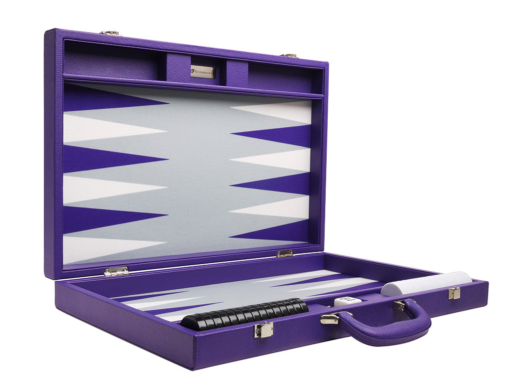 19-inch Premium Backgammon Set - Purple - EUR - American-Wholesaler Inc.