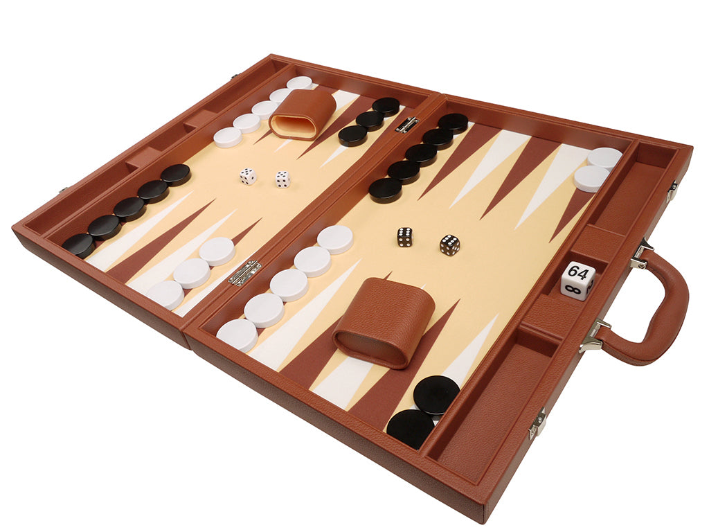 19-inch Premium Backgammon Set - Desert Brown - American-Wholesaler Inc.