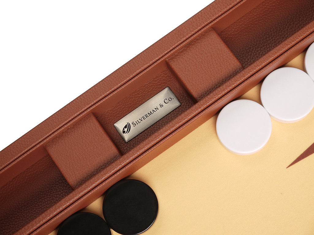 19-inch Premium Backgammon Set - Desert Brown - Silverman & Co