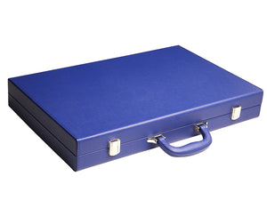 19-inch Premium Backgammon Set - Indigo Blue - American-Wholesaler Inc.
