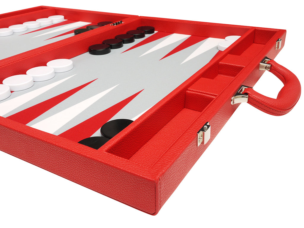 19-inch Premium Backgammon Set - Red - American-Wholesaler Inc.