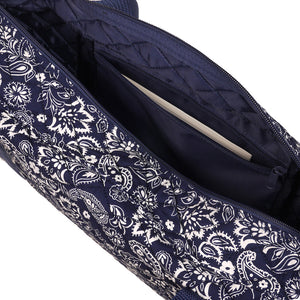 Soft-Sided American Mah Jongg Set by Linda Li® with White Tiles and Modern Pushers - Blue Paisley Soft Bag - American-Wholesaler Inc.